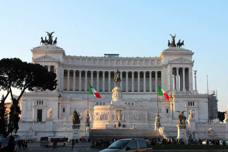 Altar de la Patria - cosas que ver en roma