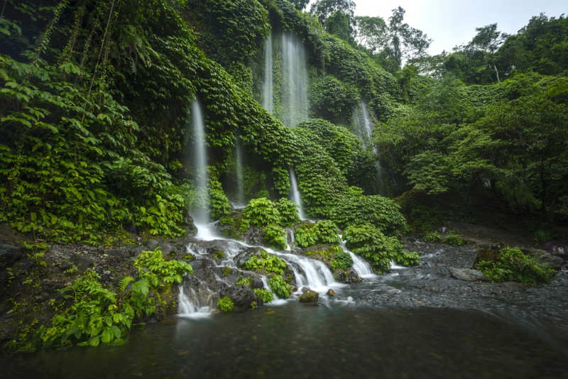 Benang Kelambu cascada - que ver en lombok