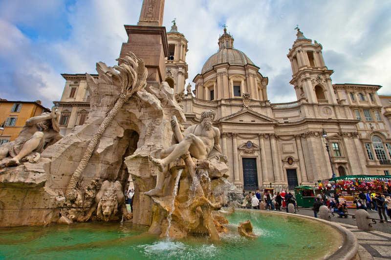 Fontana dei Quattro Fiumi - que ver en Roma