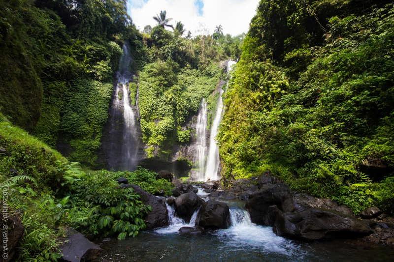 cascada en Sukawati - que hacer en bali