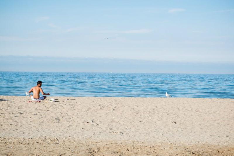 Bradford Beach, Milwaukee, Lago Michigan