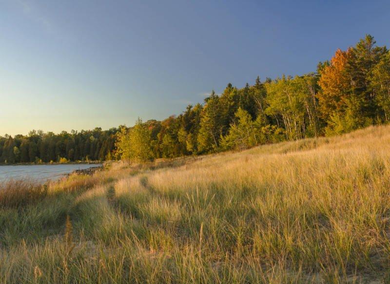 Newport State Park, Ellison Bay, Lago Michigan