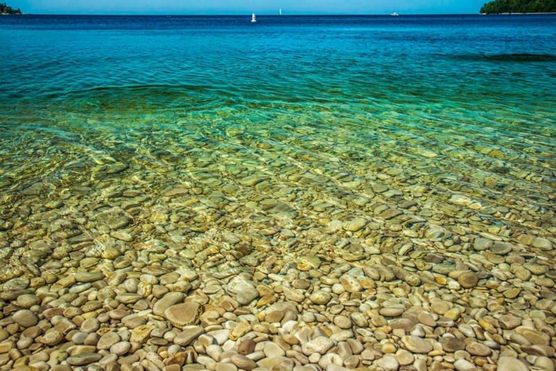 Schoolhouse Beach, Isla de Washington, Lago Michigan