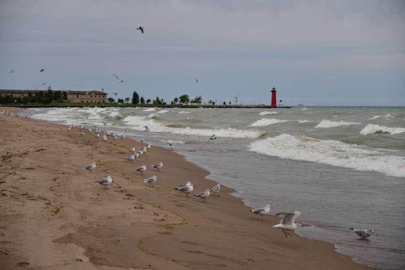 Simmons Island Beach, Kenosha, Lago Michigan