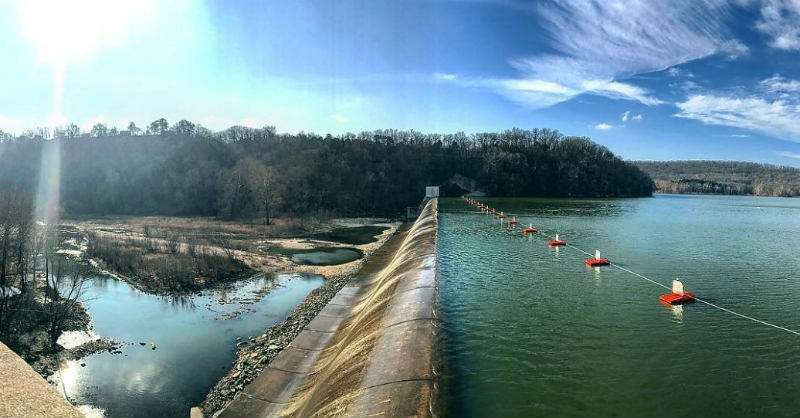Spavinaw Area Spillway, Grand Lake